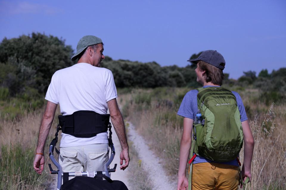 Vater und Sohn pilgern nach Santiago-image