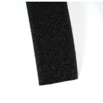 Klettband schwarz 25 mm Schleife